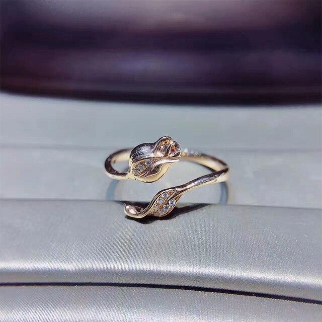 37fffd1fbda ANI 18K Rose Gold (AU750) Women Wedding Ring Certified I SI 0.042 ct Real Diamond  Ring Elegant Rose Shape Engagement Jewelry