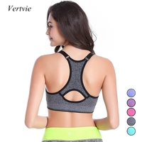 2015 Fashion Women Sports Bra Shockproof Shakeproof Seamless Push Up Wirefree Yoga Running Gym Top Bras