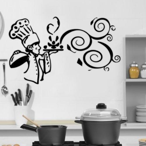 Cucina cuoco wall sticker casa decor adesivi da muro per for Stencil per cucina