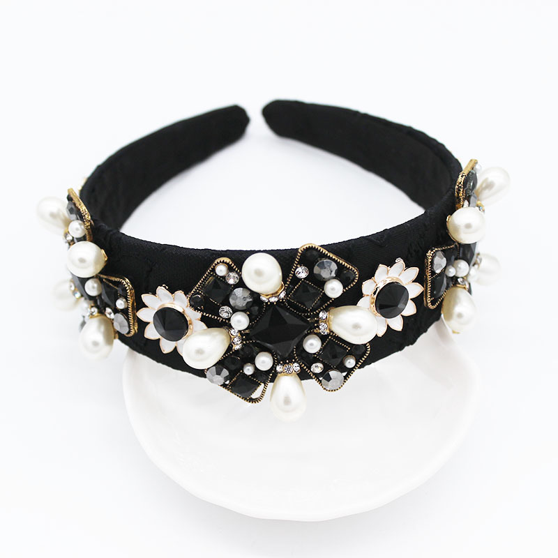 Rhinestone Wedding Hair Accessory Womens Jeweled Baroque Jeweled Headband with Gems Diamonds Beach Korea Ins Wild Dance Party in Women 39 s Hair Accessories from Apparel Accessories