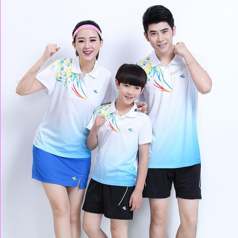 Adsmoney tennis shirt jersey suit ,Women/Men or Girl/Boy table tennis shirt short sleeve golf POLO Polyester Shirts Sets