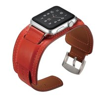 for 3842mm,iwatch Band Apple Watch Genuine Leather Band Buckle Cuff Bracelet Wrist for Apple Watch Series 3 Series 2 Series 1