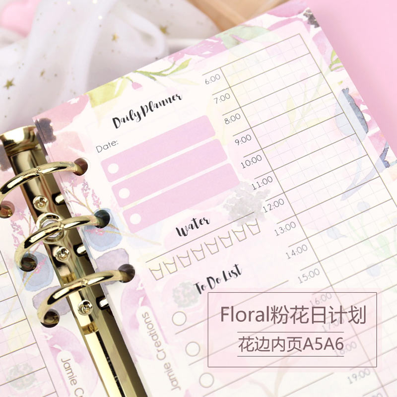 Yiwi A5 A6  Timeline Plan 40 Sheets Diary Color Inner Core Planner Filler Paper Inside Page Gift Forfilofax