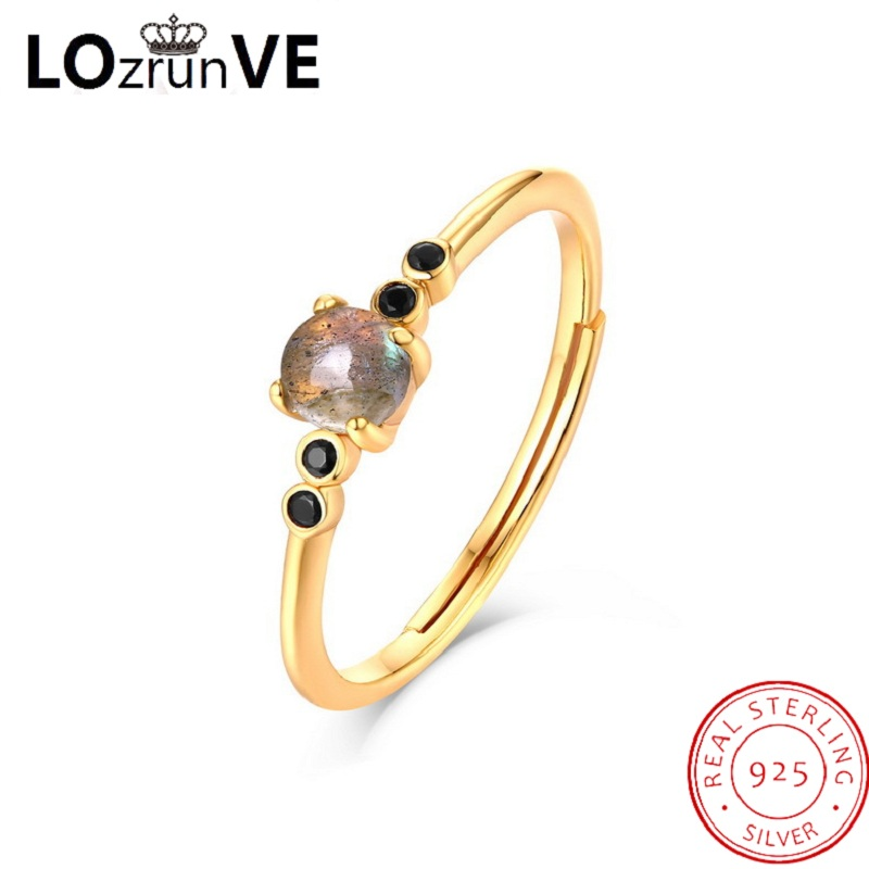 цена LOZRUNVE original 2018 brand 925 sterling silver anillos korean elegant vintage stackable zirconia finger ring women wholesale