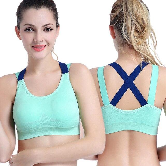Push Up Sports Bra XL For Women Cross Straps Wireless Padded Comfy Gym Yoga Underwear 5