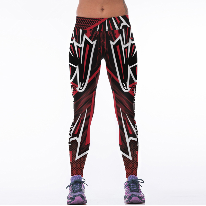 2017 Sporting Leggings 3D Eagle Printed American Apparel Footballs Training Pants High Waist Sexy Slim Fitness Jogging Jeggings