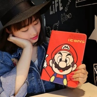 Tablet Case For Apple Ipad Mini 4 Cute Cartoon Prints PU Leather Soft Protective Cover Multifunction