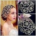 Nueva Llegada Gorgeous Rhinestone Princesa de La tapa sombreros Diadema tiara Cristalina de La Manera para el vestido de Novia de Pelo accesorio de la joyería