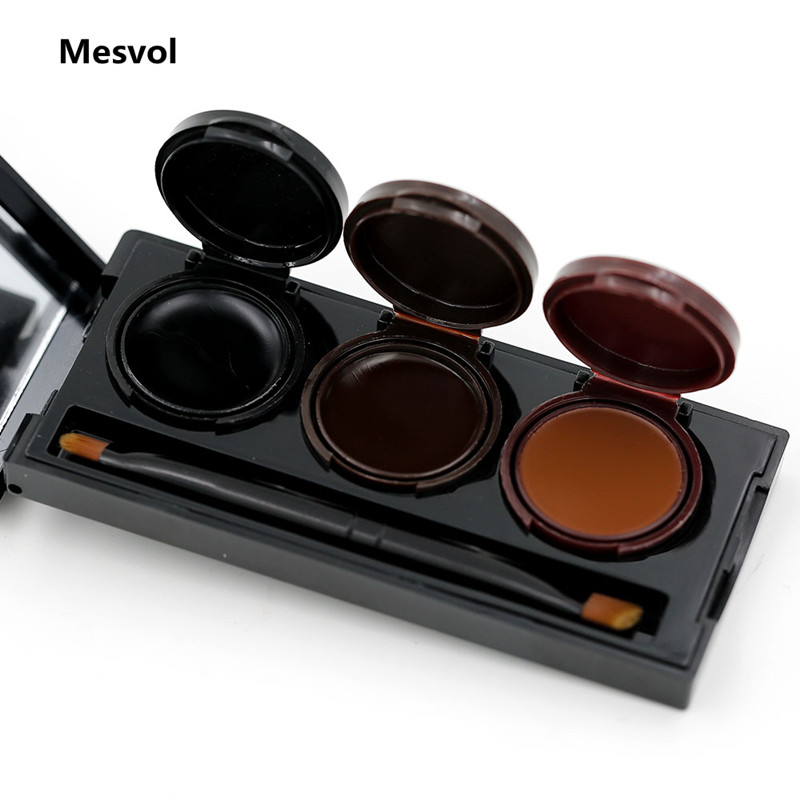 Gel Eyeliner 1 Set Glamorous Eyes Gel With mirror Waterproof Sweat Not Blooming Smudge proof M3056