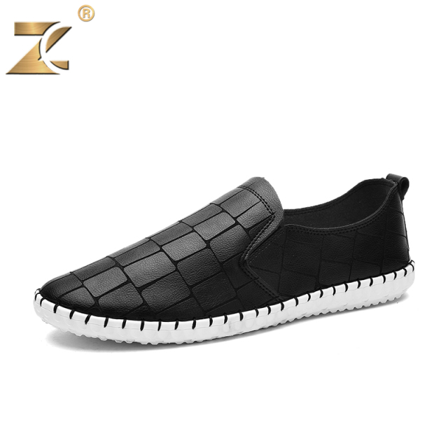 Z 2017 Famous Fashion Design Brand European style Leather Men Casual Shoes Outdoor Breathable Handmade Men Casual Shoes