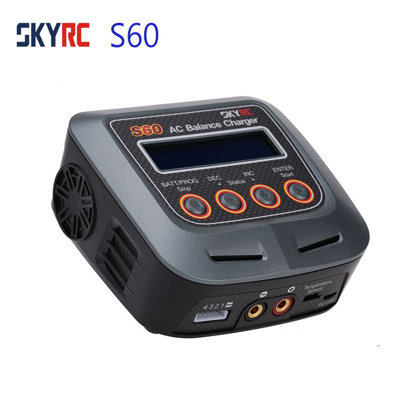 Skyrc S60 60W AC Balance Battery Charger Discharger for Remote Control Airplane RC Car Truck Multi Charging Modes 2 8S Battery-in Drone Battery Chargers from Consumer Electronics    1