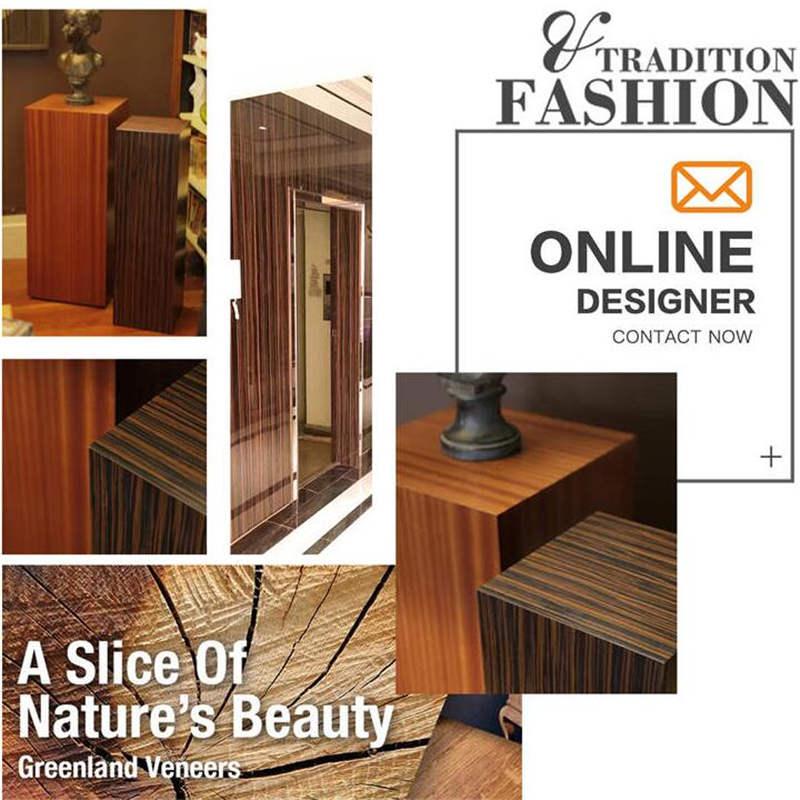 Ebony Veneers Flooring DIY Furniture Natural 250x60 cm bed frame living room coffee table dresser vanity shoe rack wood Veneer in Furniture Accessories from Furniture