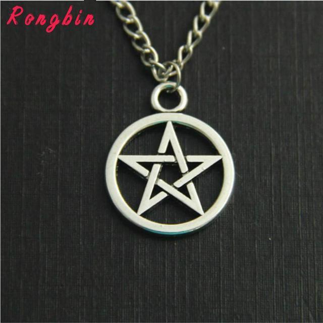 Supernatural Devil's Trap Pentagram Antique Silver Pendant