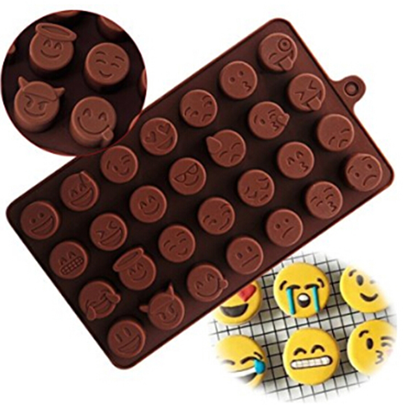 Delidge 1 Pc 28 Holes Qq Expression Chocolate Molds Silicone Cute Lovely Emoji Expression Fondant Chocolate Molds Diy Baking A Complete Range Of Specifications Bakeware