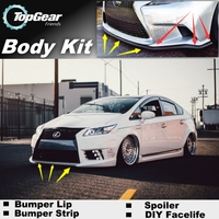 For TOYOTA Prius XW20 XW30 Bumper Lip / Front Spoiler Deflector For TOP Gear Firends Car Tuning / TOPGEAR Body Kit / Strip Skirt