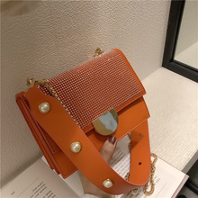 New hot fashion pu Handbags Famous Brand Leather Messenger Bags Luxury Shoulder Bag Designer Women Chain Pearl Drill Handbag стоимость