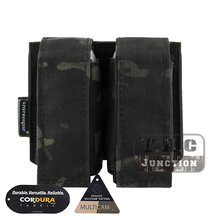 Emerson Tactical MOLLE Double 40mm Grenade Pouch Emersongear 9mm Magazine Holder Carrier Ammo Bag PALS Multicam Black