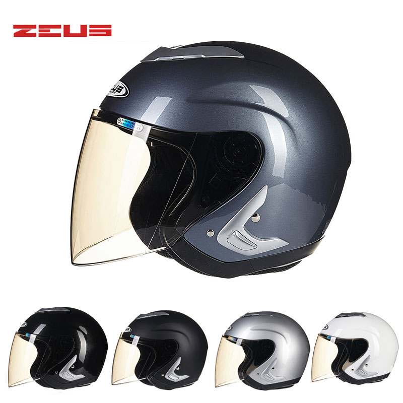 2017 Taiwan ZEUS Open Face motorcycle/motorbike helmet ABS electric bicycle helmets Four Seasons 607B Size M L XL XXL