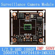 2MP1920*1080 AHD CCTV 1080P Camera Module Circuit Board,1/2.7 CMOS NVP2441+SONY IMX323 2000TVL PCB Board PAL / NTSC Optional