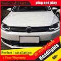 Auto Clud 2011-2014 Para vw jetta cabeça faróis Para VW jetta MK6 lâmpadas LED guia de luz DRL Q5 lente bi xenon estacionamento estilo do carro