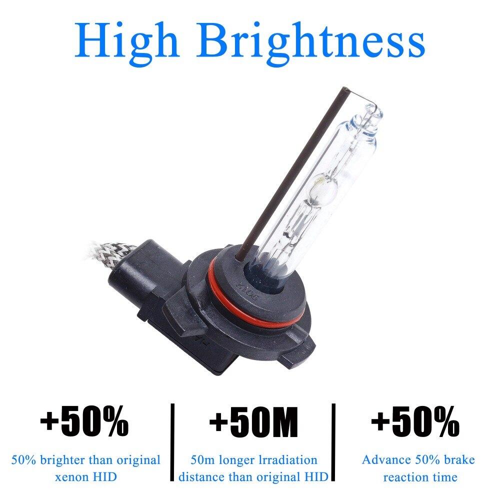 Free Shipping 100% Original Super Bright Fast Start 2 pcs 55W  9012 HIR2 HID Xenon Head Lamp Single Beam Replacement Car Bulbs