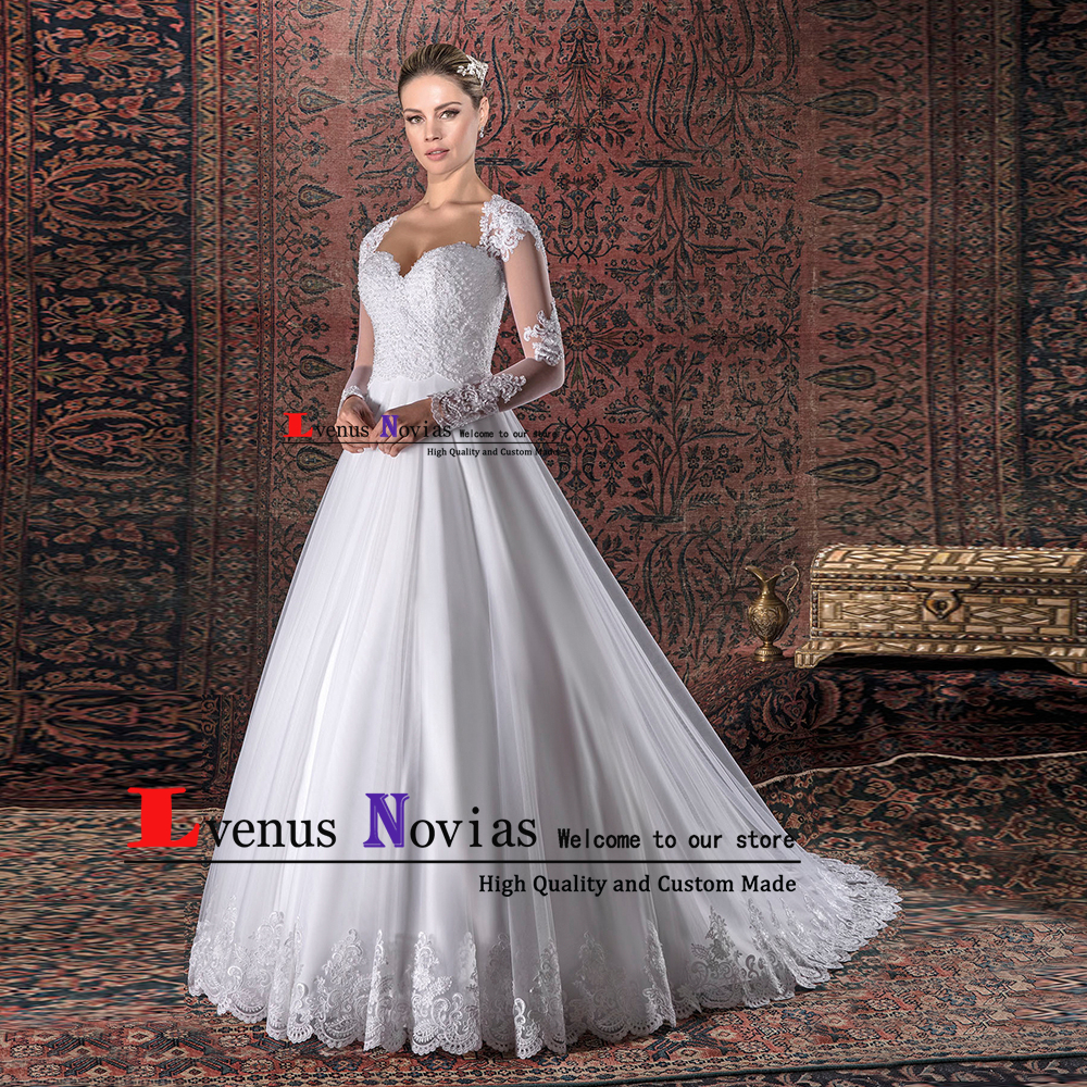 Beautiful Wedding Dresses 2019: Robe De Mariee 2019 Bride Wedding Gowns Beautiful Lace