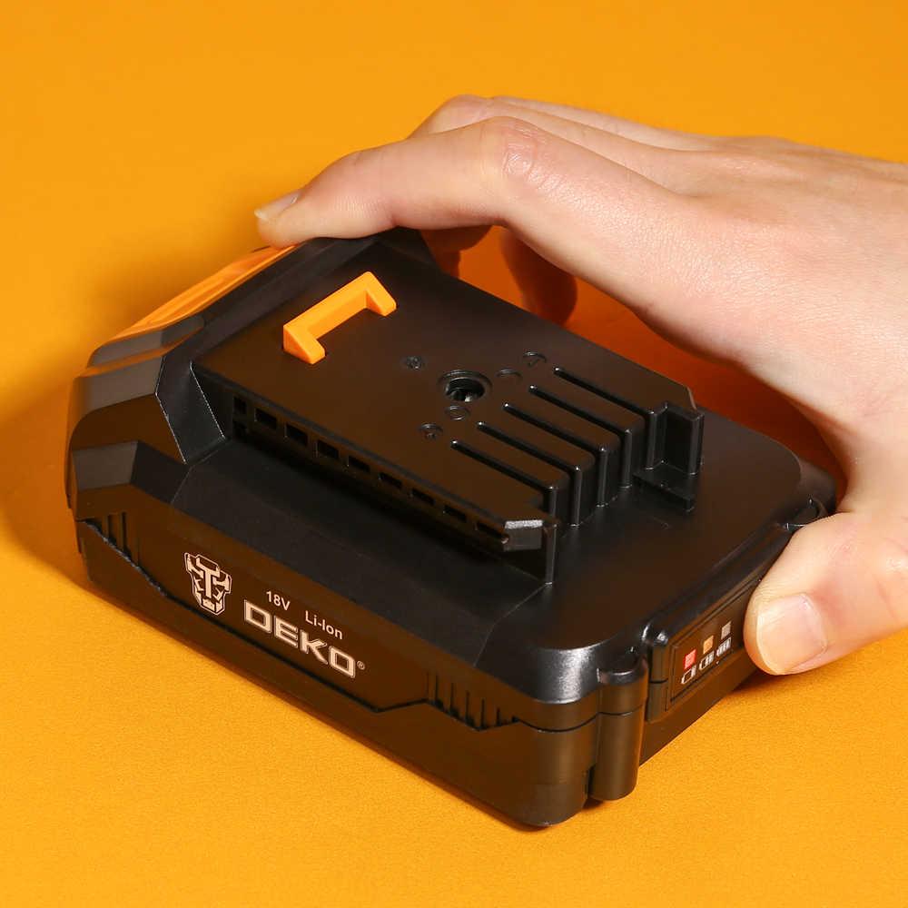 DEKO GCD20DU5 20V 20 максимальное напряжение Электрический Беспроводная электродрель-отвёртка мини Мощность драйвер постоянного тока литий-ионный Батарея 2-Скорость