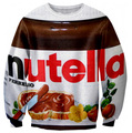 Harajuku style new fashion  autumn men/women's 3D sweatshirt print nutella chocolate funny pullover hoody
