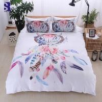 SunnyRain 3 Piece Dreamcatcher Duvet Cover Set UK US Twin Queen Size Bedding Set