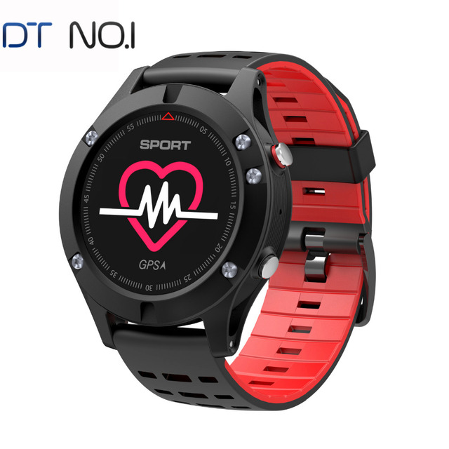 DTNO.I F5 GPS Smart watch Wearable Devices Activity Tracker Bluetooth 4.2 Altimeter Barometer Thermometer GPS Sport watch