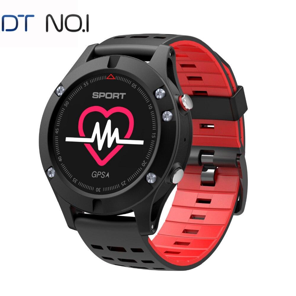 DTNO. Je F5 GPS montre Intelligente Appareils Portables Traqueur D'activité De Bluetooth 4.2 Altimètre Baromètre Thermomètre GPS montre de Sport