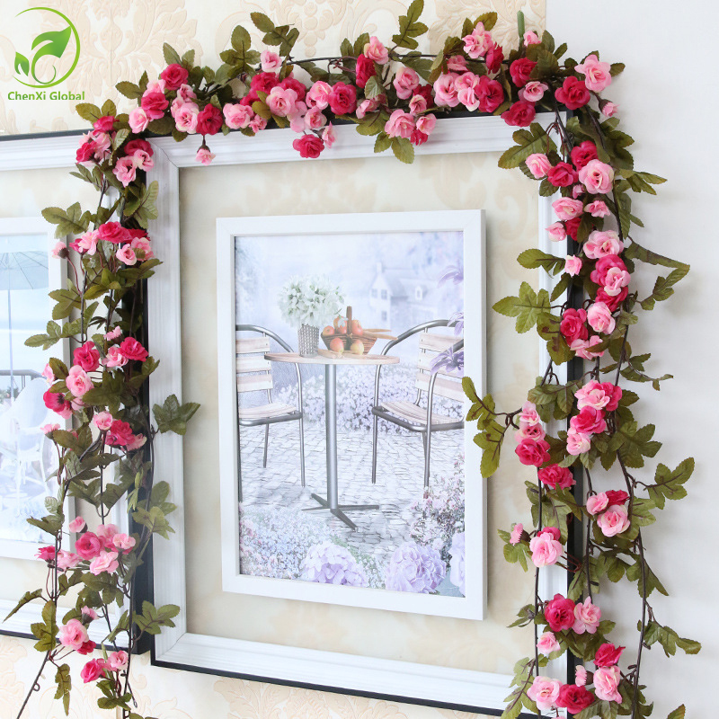 Buy 230cm wedding decorations fake silk for Rose home decorations
