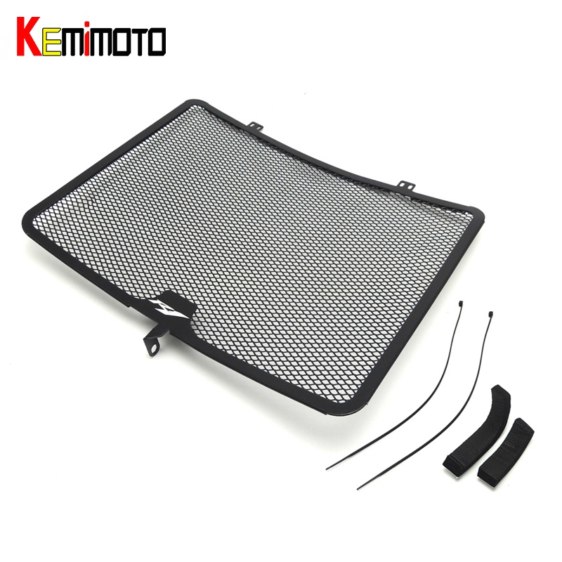 KEMiMOTO 2007 2008 R1 Aluminum Radiator Grills Guard Cover Grille for YAMAHA YZF R1 2007 2008 Oil Cooler Protector