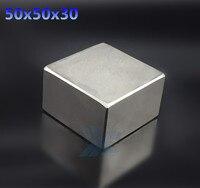 1pcs Free Shipping 50x50x30 Strong Rare Earth Neodymium Magnets 50x50x30 MM Block Permanent Magnet 1 575