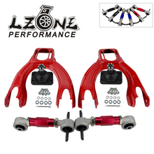 LZONE - FOR HONDA CIVIC 92-95/INTEGRA FRONT UPPER CONTROL ARM TUBE CAMBER KIT+ 92-00 Adjustable Rear Camber Arms