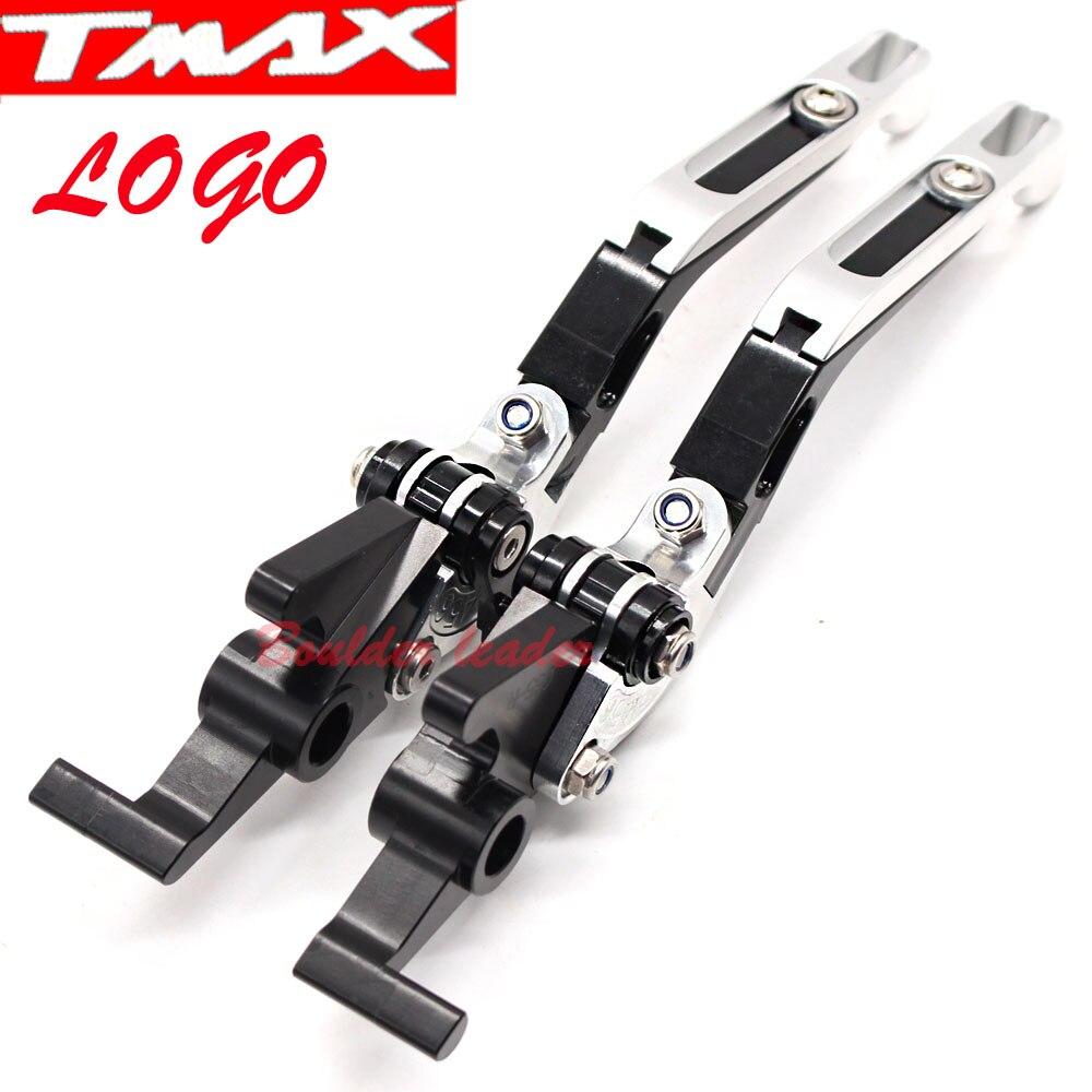 /2007 CNC allungabile pieghevole moto regolazione del freno leve frizione per Yamaha TMAX500/2001/