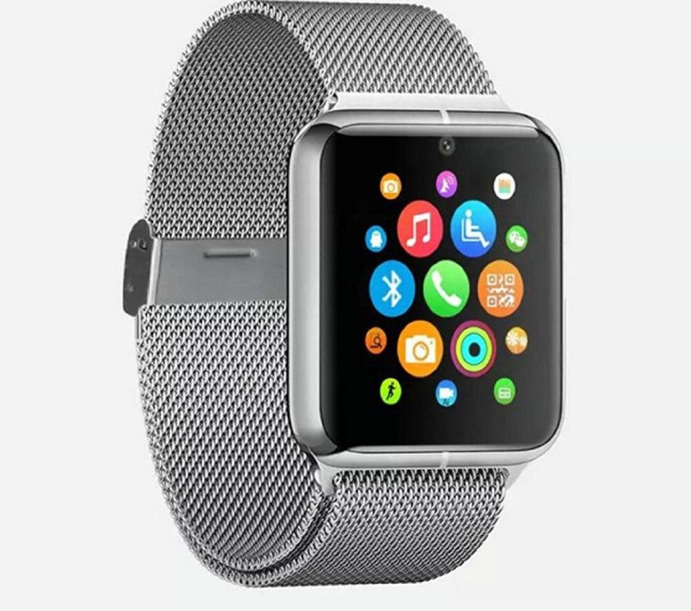 Silver Z50 Smart Watch Phone Bluetooth GSM NFC G sensor Camera 1 SIM Pedometer Sedentary Reminder