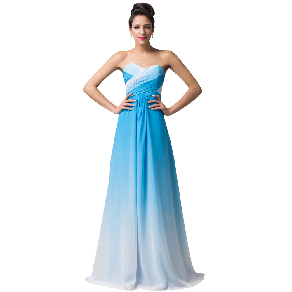 Aliexpress Com Buy Sl 82 Sweetheart Bling Bridal Gowns: Popular Blue Ombre Dress-Buy Cheap Blue Ombre Dress Lots