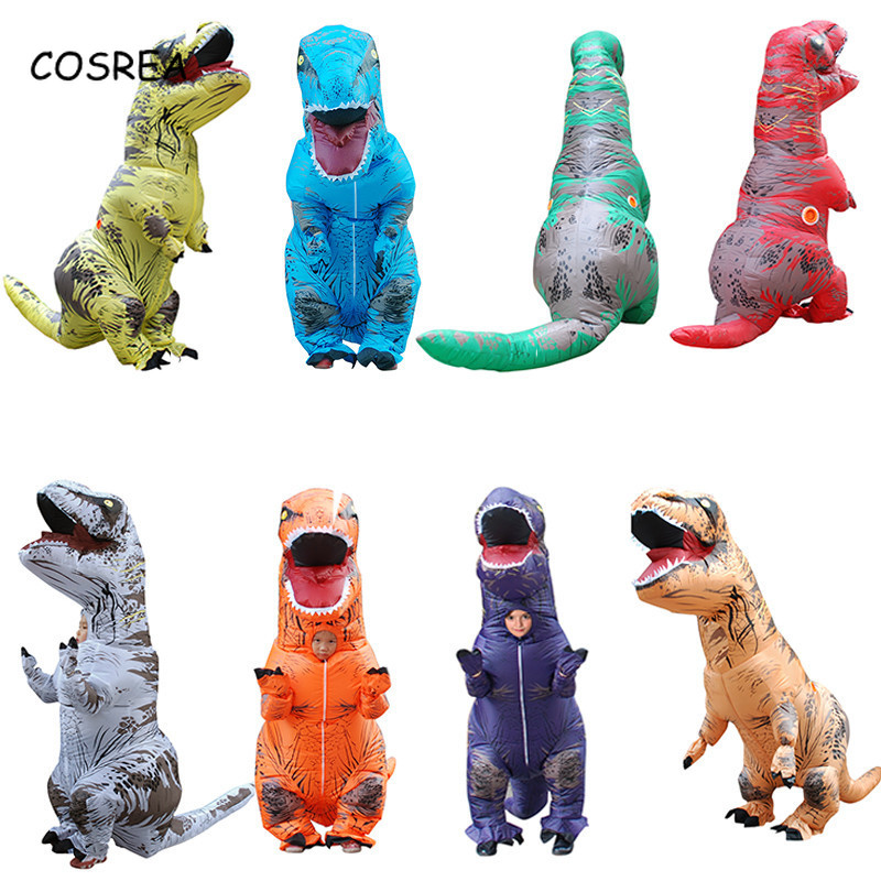 Inflatable Dinosaur Costumes Suit Clothing Kids Adult Fancy Ride Animal Jumpsuit Themed Cosplay Costume  Party Supplies