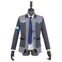 DBH Connor Cosplay Costume RK800 Agent Suit Uniform Tight Unifrom Cosplay Costume for Halloween