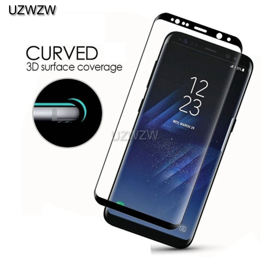 Full Curved Tempered <font><b>Glass</b></font> For <font><b>Samsung</b></font> Galaxy S9 S8 Plus S7 edge Note 9 Note <font><b>8</b></font> A6 Plus A8 Plus A8 A6 <font><b>2018</b></font> Protective <font><b>Glass</b></font> image