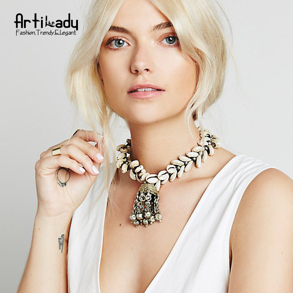 Artilady natural shells pendant necklaces