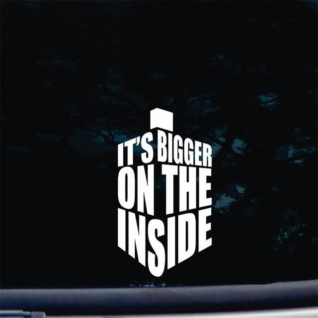Its Bigger On The Inside Die Cut Vinyl Decal Sticker For Car - Die cut vinyl decal stickers