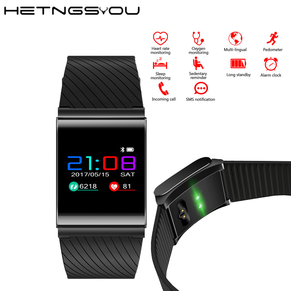 X9 Pro Smart Wristband Colorful OLED Screen with Heart Rate Blood Pressure Monitor Call SMS Reminder