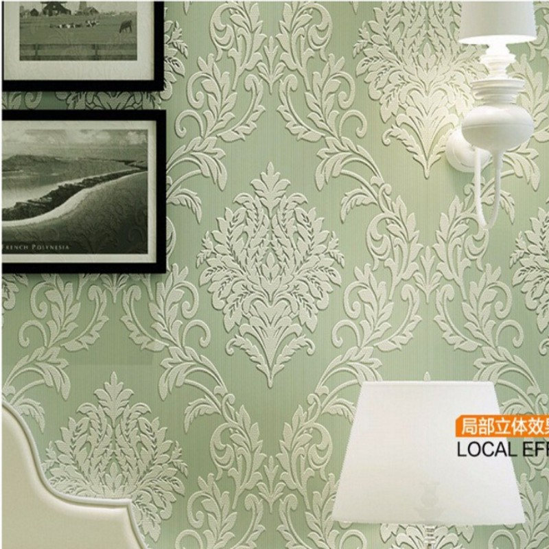 ФОТО 3d room wall paper landscape wall paper embossed Beibehang wallpaper flocking wall paper bedroom living room TV background
