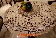 New Häkeln handtücher Vingtage Tischdecke Abdeckung Für Hochzeit Weiß Runde Handgemachte Tischdecken Für Weihnachten Esszimmer Dekoration