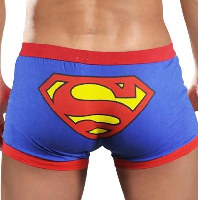 Superman Cartoon Underwear Men Boxer Shorts Cotton Seamless Breathable Love Couple Mens Underpants Mid Rise Male Boxershorts