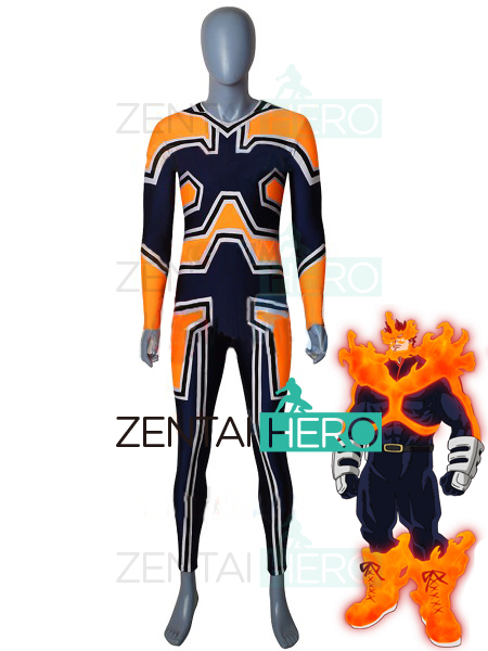 NEW My Hero Academia Endeavor Cosplay Costume Spandex Boku no Hero Academia Endeavor Halloween Costume Enji Todoroki Bodysuit