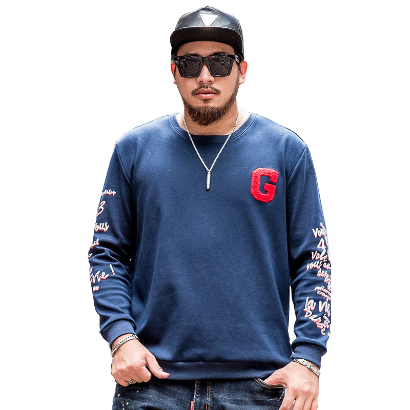 Oversize Men Hoodies 4XL 5XL 6XL 7XL 2017 Autumn Winter Fleece Warm Men Sweatshirts Long Sleeve Blue Male Jumpers Plus Size men plus size 4xl 5xl 6xl 7xl 8xl 9xl winter pant sport fleece lined softshell warm outdoor climbing snow soft shell pant