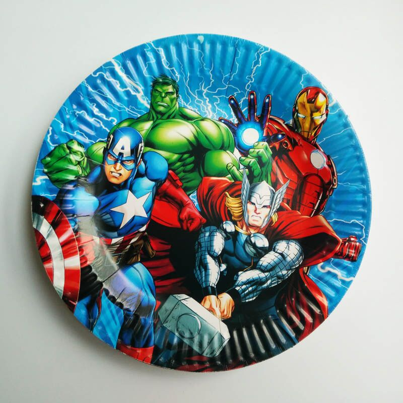 Christmas Party Paper Plates Part - 35: 10pcs The Avengers Cartoon Paper Plates Birthday Wedding Christmas Paper  Kids Set Movie Party Event Supplies